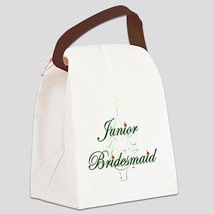 The Christmas Junior Bridesmaid Canvas Lunch Bag