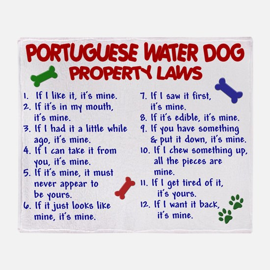 D PORTUGUESE WATER DOG PL2 Throw Blanket
