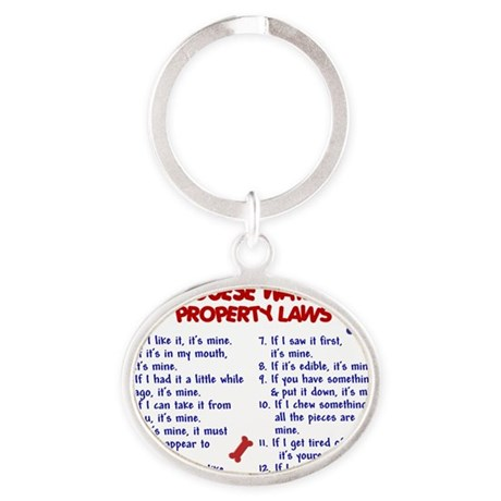 D PORTUGUESE WATER DOG PL2 Oval Keychain
