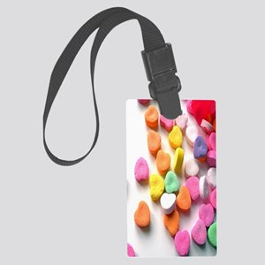 Valentines Day heart gift candy  Large Luggage Tag