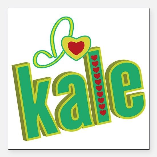 """i-heart-kale Square Car Magnet 3"""" x 3"""""""