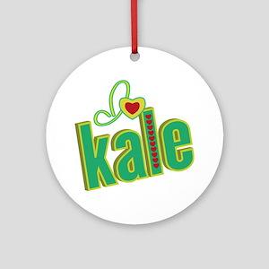 i-heart-kale Round Ornament