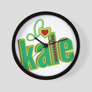i-heart-kale Wall Clock
