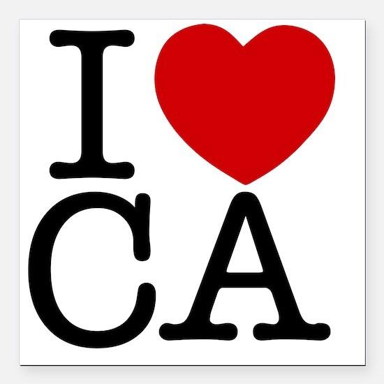 """california Square Car Magnet 3"""" x 3"""""""