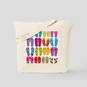 Colorful-Flip-Flops-Vector-Set Tote Bag