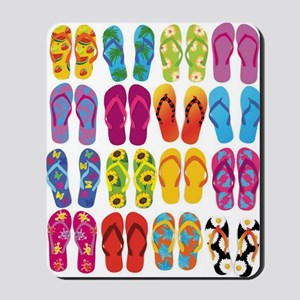 Colorful-Flip-Flops-Vector-Set Mousepad