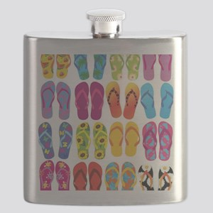 Colorful-Flip-Flops-Vector-Set Flask