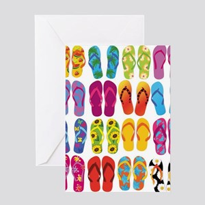 Colorful-Flip-Flops-Vector-Set Greeting Card