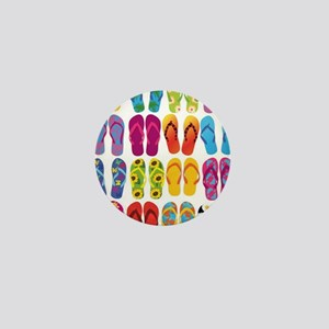 Colorful-Flip-Flops-Vector-Set Mini Button