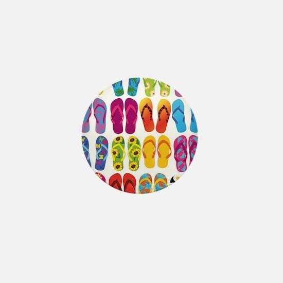 Colorful-Flip-Flops-Vector-Set Mini Button