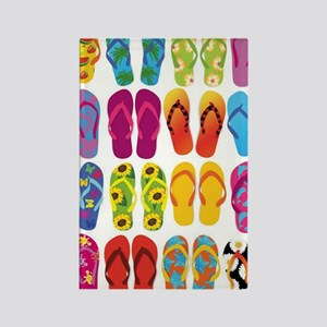 Colorful-Flip-Flops-Vector-Set Rectangle Magnet