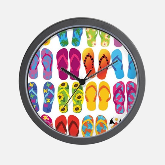 Colorful-Flip-Flops-Vector-Set Wall Clock