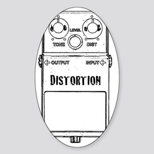 DISTORTION PEDAL Sticker (Oval)