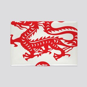 Red_dragon_1 Rectangle Magnet