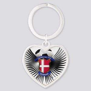 soc_wing_denmark Heart Keychain