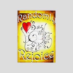 Randomly Rejoice 5'x7'Area Rug