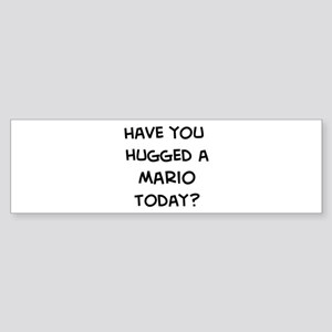 Hugged a Mario Bumper Sticker