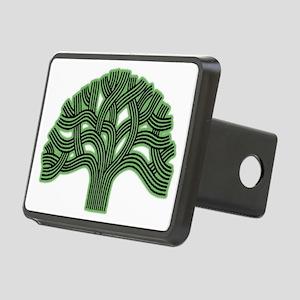 Oakland Tree Hazed Green Rectangular Hitch Cover