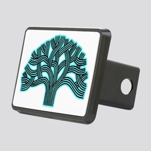 Oakland Tree Hazed Teal Rectangular Hitch Cover