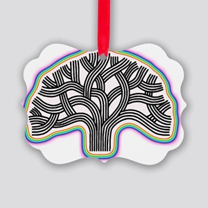 Oakland Tree Rainbow Halo Picture Ornament