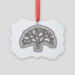 Oakland Tree Rainbow Halo Picture Ornament