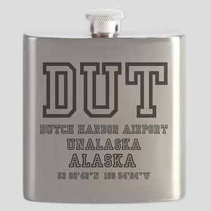 AIRPORT CODES - DUT, DUTCH HARBOR, ALASKA Flask