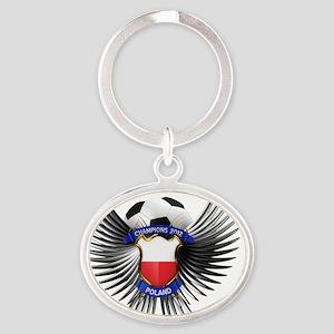 soc_wing_poland Oval Keychain