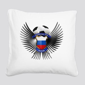 soc_wing_russia Square Canvas Pillow
