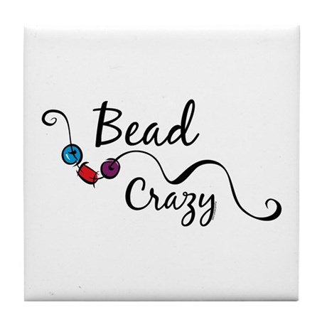Bead Crazy II Tile Coaster