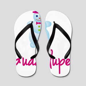 Guadalupe-the-snow-woman Flip Flops