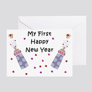 Babys First New Year Greeting Card