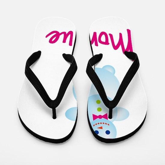Monique-the-snow-woman Flip Flops