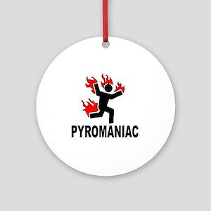 pyroman Round Ornament