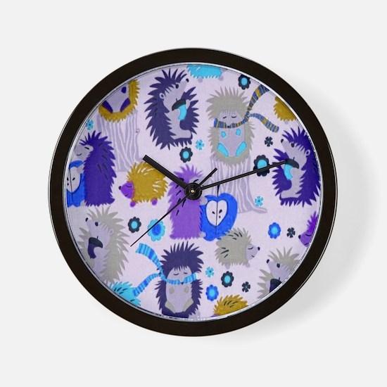 Hedgehog Meadow Cream copyf Wall Clock