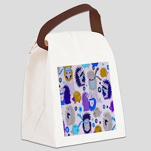 Hedgehog Meadow Cream copyf Canvas Lunch Bag
