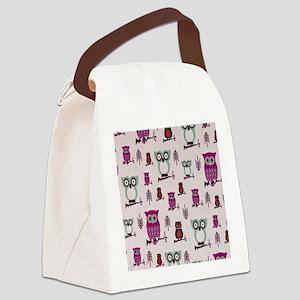 Hooty Owl copy Canvas Lunch Bag