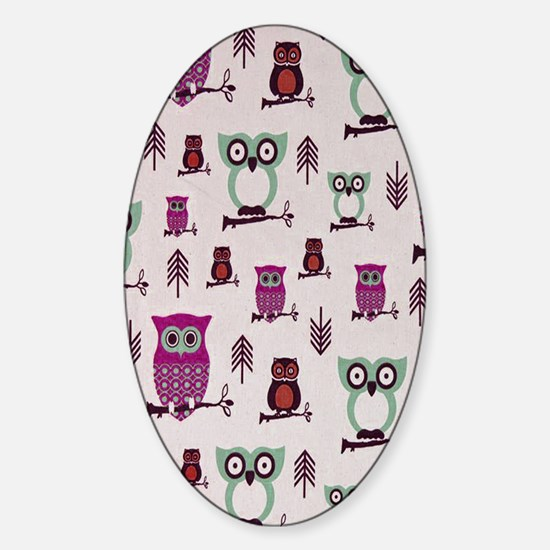 Hooty Owl copy Sticker (Oval)