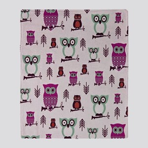 Hooty Owl copy Throw Blanket