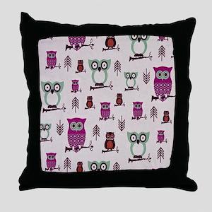 Hooty Owl copy Throw Pillow