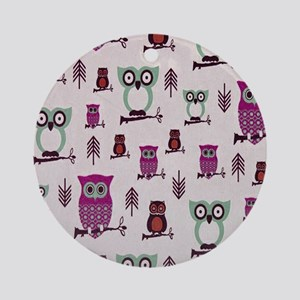 Hooty Owl copy Round Ornament