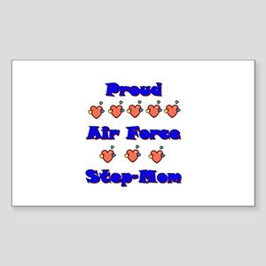 Air Force Step-Mom Rectangle Sticker