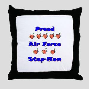 Air Force Step-Mom Throw Pillow