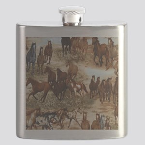 Horses Sable Flask