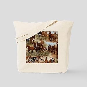 Horses Sable Tote Bag