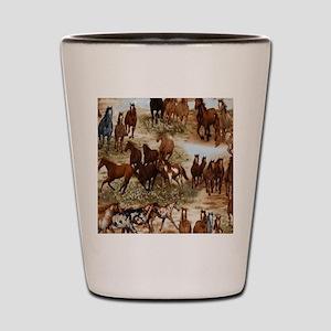 Horses Sable Shot Glass