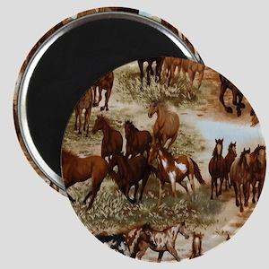 Horses Sable Magnet
