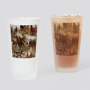 Horses Sable Drinking Glass