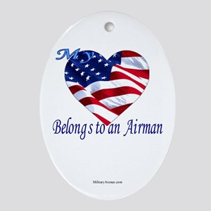 Air Force Wife Girlfriend Fiancee  Oval Ornament