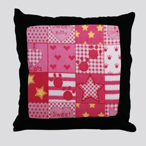 Kitty Patch Throw Pillow
