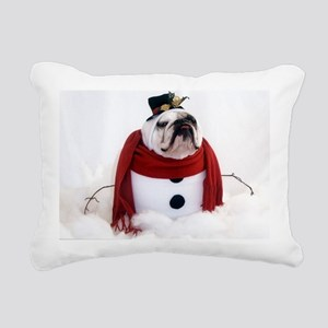 Snowman Rectangular Canvas Pillow